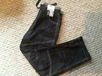 George Black Camouflage Trousers Age 7-8