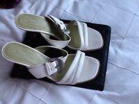 Ladies white designer shoes size 4