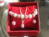 Bracelet , necklace , earrings gift set shamballa style £6