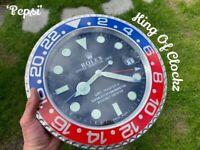 Rolex wall clock PEPSI GMT - Free U.K. P&P