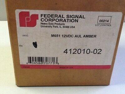 Federal Signal 412010-02 Strobe Amber Beacon 12vdc Nos