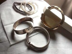 5 bracelets, argent Sterling et autres