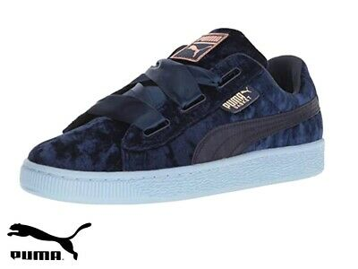 Junior Puma 'Basket Heart Velour' Trainer (367624-02) New With Box And Tags