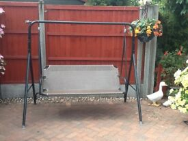 Two seater garden swing seat