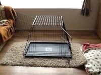 Dog car crate, LARGE (SOLD)