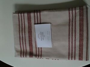 Pottery Barn French Stripe Cafe Curtains Red Sold Out Ebay