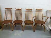 ***4 Ercol Dinning Chairs ***£90***FREE DELIVERY***