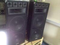 Ehko dual 15inch full range passive dj speakers