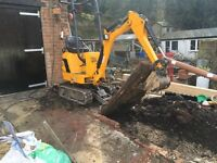 BMS Landscaping & Groundworks Man and machine hire Mini Micro digger dumper hire Watford Bushey