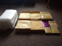 Jiffy bags and bubble wrap used