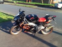 APRILIA RS 125 2008 BLACK RED MOT 2018 FULL POWER MODEL