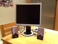 Samsung Syncmaster 910N 19inch screen computer monitor + Creative SBS260 speakers.