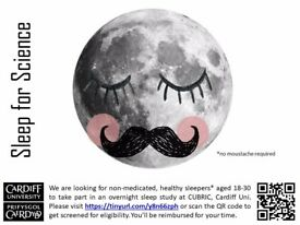 Research volunteers wanted for sleep study - Cardiff Uni