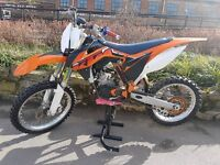 ktm 85cc 2014 model big wheel (105cc kit fitted) small wheels also avalibale