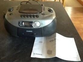 Three Portable/electric CD stereo radio cassette recorders