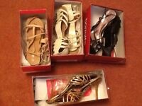 4pairs of size 7 shoes sold as used