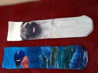 2 pairs of new socks nemo and pug