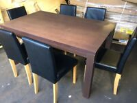Set Of Dining Table And 6 Chairs