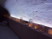Wedding candle jars