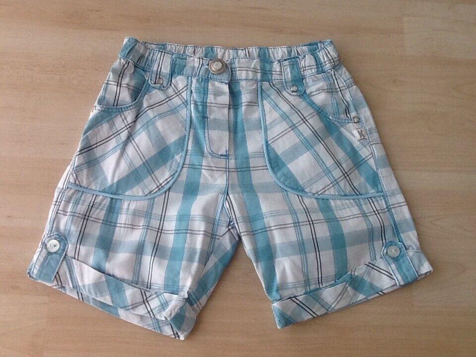 Jungen Baby Shorts Gr.74 Kanz kariert blau/weiß Sommer kurze Hose Super leicht !