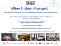 Interview Day - Conference and Events Assistant's - Hilton Brighton Metropole - 10/10/16