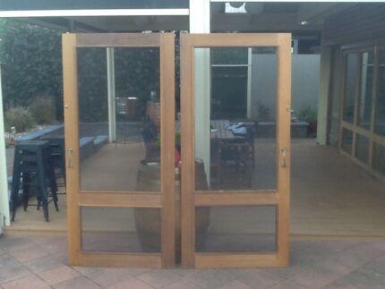 Timber cedar screen doors