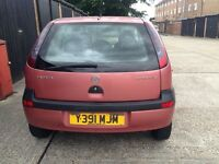 2001 reg vauxhall corsa 1.2 litre petrol cheap to insurance drive fantastic with long mot!