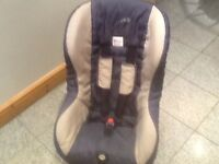 9kg upto 18kg group 1 car seat for 9mths to 4yrs-Britax ECLIPSE -reclines,is cushioned,washed&clean