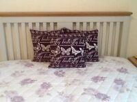Dorma Lilac/White Bedspread