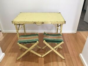 Vintage table and chair picnic set. Suit retro car display. Mitcham Whitehorse Area Preview