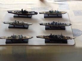6 off Atlas model battleships