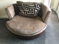 Swivel chair & 3 seater couch