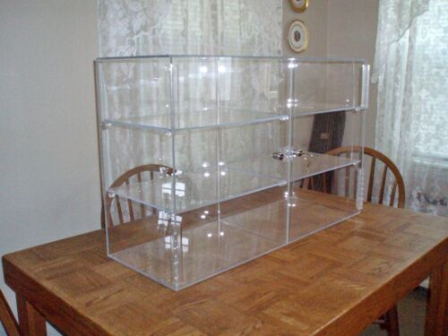 XLarge Acrylic Display Case with Compartments.  Excellent Condition!