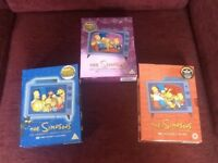 The Simpsons Box set DVD's x3