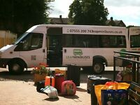 MINIBUS HIRE WITH DRIVER, MALE & FEMALE DRIVERS, NEW BUSES, UK COVERAGE, CARD PAYMENTS ACCEPTED.