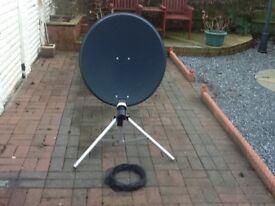 Mobile 63cm satellite dish.