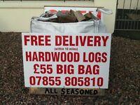 Logs hardwood seasoned and dried £55 tote bag
