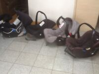 First size group 0+ baby car seats with carry handles for upto 10kg baby-all washed from £10-&25each