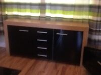 sideboard tv stand and coffee table months old also swivel chairs