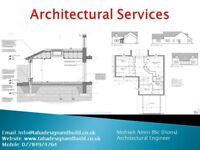 Architectural Services, Building Regulation, Planning, Drawings, House Extension, Loft Conversion