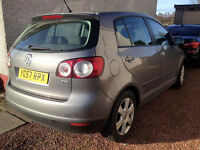 2007 57 VOLKSWAGEN GOLF PLUS SE TDI 1.9 5 SPEED MANUAL 2 PREVIOUS OWNERS SINCE NEW