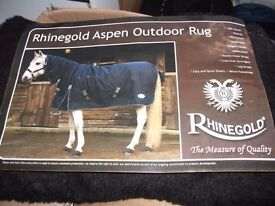 RhineGold Aspen outdoor rug with full neck - 350 gsm - 7' - new