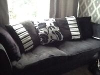 Dfs black sofas