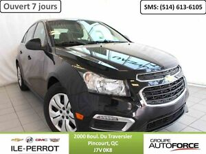 2015 CHEVROLET CRUZE LT TURBO, CAMERA, DEM. DISTANCE