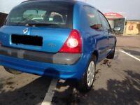 Renault Clio 1.2 2002, **LONG MOT** LOW insurance, CHEAP, Low miles