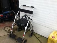 MOBILITY WALKER ROLLATOR WHEELCHAIR ALL 3 IN ONE