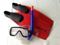 Snorkel Goggles and Flippers