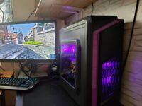INTEL XEON i7 GAMING PC COMPUTER RADEON RX560 4GB OC