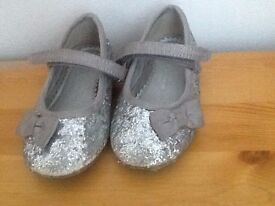 Silver shoes (kids size 5)