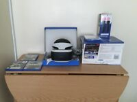 PS4 VR BUNDLE with Motion Controllers + 5 Games